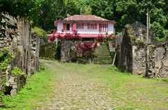 Martinique, picturesque Habitation Ceron in Le Precheur in West Stock Photography