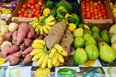 Martinique, picturesque market of Le Robert in West Indies Stock Images