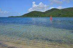 Martinique, picturesque village of Sainte Anne in West Indies Stock Image