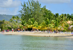 Martinique, picturesque village of Sainte Anne in West Indies Royalty Free Stock Images
