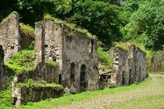 Martinique pittoresk boning Ceron i Le Precheur i västra arkivbilder