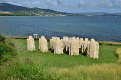 Martinique pittoresk stad av Le som är diamant i västra Indies royaltyfri bild