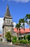 Martinique pittoresk stad av Morne Rouge; i västra Indies arkivbilder