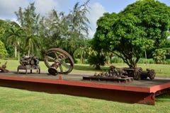 Martinique pittoresk stad av Riviere Pilote i västra Indies arkivbild