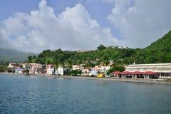 Martinique pittoresk stad av Saint Pierre i västra Indies arkivfoto