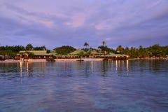 Martinique pittoresk stad av Sainte Anne i västra Indies arkivfoto
