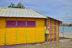 Martinique pittoresk stad av Sainte Anne i västra Indies royaltyfria bilder