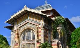 Martinique pittoreskt Schoelcher arkiv av Fort de France in royaltyfri fotografi