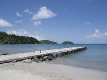 Martinique plaża z desantowym gangway Obraz Royalty Free
