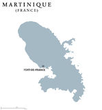 Martinique political map Royalty Free Stock Image