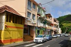 Martinique, schilderachtige stad van Riviere Pilote in de Antillen Royalty-vrije Stock Foto's