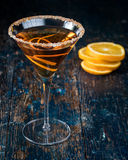 Martinis alaranjados do citrino imagem de stock royalty free