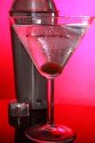 Martinis cor-de-rosa e abanador de aço Fotografia de Stock Royalty Free