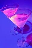 Martinis cosmopolitas cor-de-rosa Fotos de Stock Royalty Free