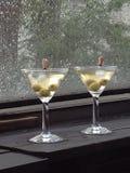Martinis secos después de la lluvia Imágenes de archivo libres de regalías