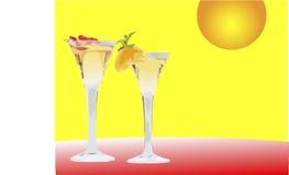 martinis två vektor illustrationer