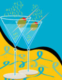 Martinis for Two stock illustration