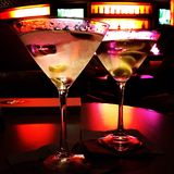 Martinis. Two martini cocktails Royalty Free Stock Images