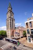Martinitoren à Groningue Les Pays-Bas photo stock