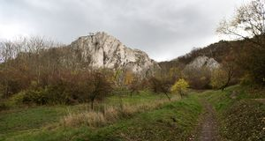 Martinka rock in Palava hills in South Moravia Stock Photography