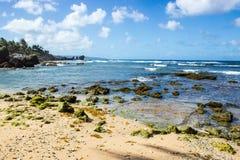 Martins Bay beach on Barbados East Coast Stock Photo