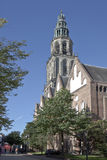 Martins Church in Groningen City, the Netherlands royalty free stock photo