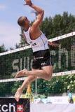 Martins Plavins - voleibol da praia Fotografia de Stock Royalty Free