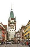 Martinstor - Gate of Martin in Freiburg im Breisgau. Germany Stock Photo