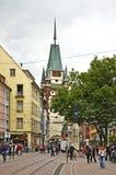 Martinstor - Gate of Martin in Freiburg im Breisgau. Germany Stock Images