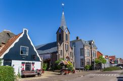 Martinus church in Oudeschild on Texel island. The Netherlands royalty free stock photo