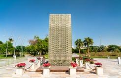 Martiri commemorativi ad Al Shaheed Park a Madinat al-Kuwait fotografia stock