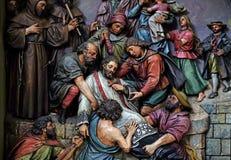 Martirio di St John di Nepomuk Fotografia Stock
