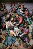 Martirio di St John di Nepomuk Immagini Stock
