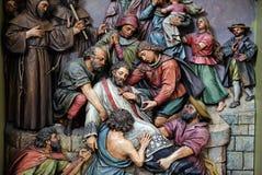 Martirio di St John di Nepomuk Immagine Stock Libera da Diritti