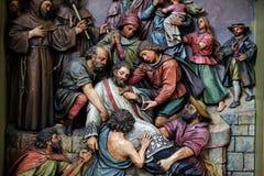 Martirio di St John di Nepomuk Fotografie Stock