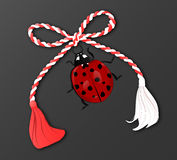 Martisor with ladybug Royalty Free Stock Photography