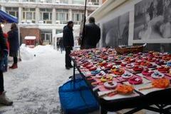 Martisor wprowadzać na rynek, Bucharest, Rumunia - 28 2018 Feb Obraz Stock