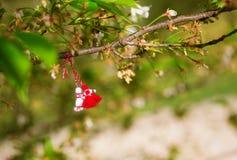 Martisors, símbolos del principio de la primavera imagen de archivo libre de regalías