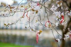 Martisors symboler av början av våren Arkivbilder