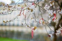 Martisors symboler av början av våren Royaltyfri Foto