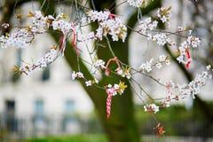 Martisors symboler av början av våren Fotografering för Bildbyråer