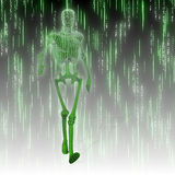 Martix humanoid Stock Photo