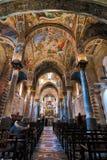Martorana教会的内部在巴勒莫 免版税库存照片
