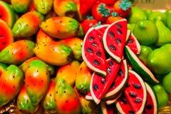 Martorana or marzapane fruits Royalty Free Stock Image