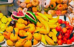 Martorana o frutas del marzapane Imagenes de archivo