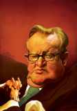 Martti Ahtisaari Karikatur lizenzfreie abbildung