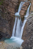Martuljek vattenfall Arkivbild