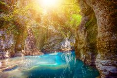 Martvili canyon in Georgia Stock Image