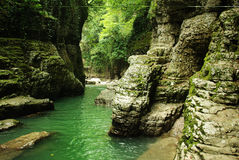 Martvili canyon. Georgia. Beautiful natural canyon with views of the mountain river Stock Photo