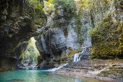 Martvili canyon stock images